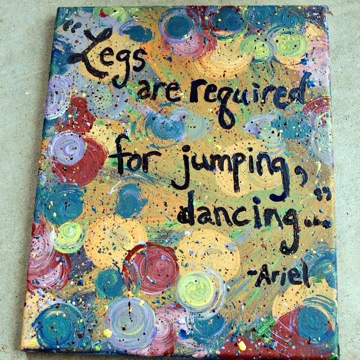 """little quotes   this listing is for an 8x10 canvas painting of disney's """"the little ...   See more about disney quotes, the little mermaid and little mermaid quotes."""