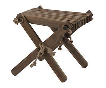 Mesa auxiliar/reposapiés de exterior en madera de pino I