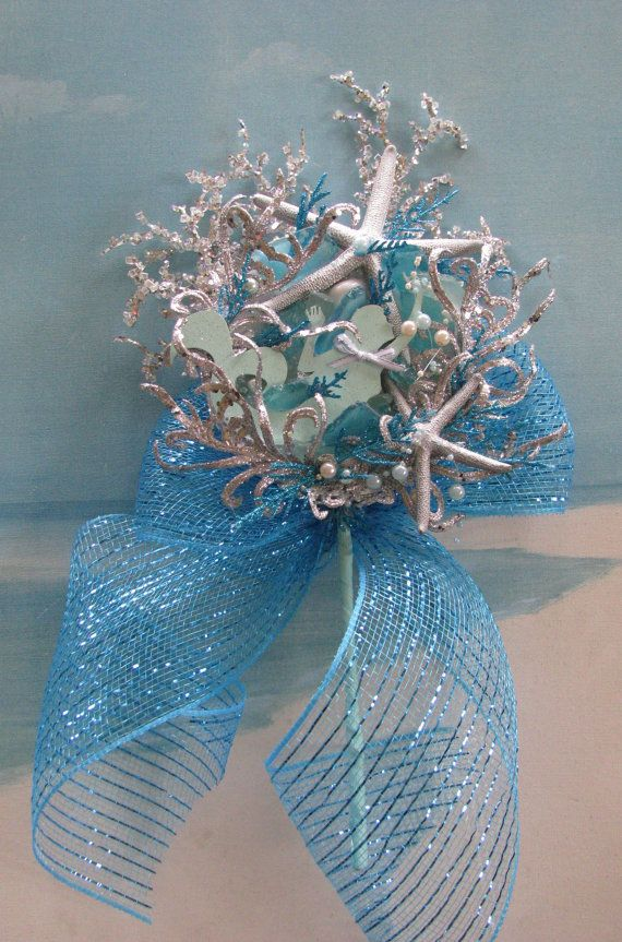 Mermaid Christmas Tree Topper~Starfish Tree Topper~~by CeShoreTreasures:)