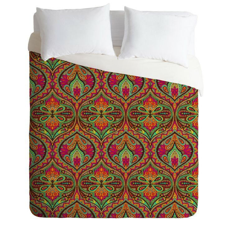 Aimee St Hill Ogee Orange Duvet Cover | DENY Designs Home Accessories