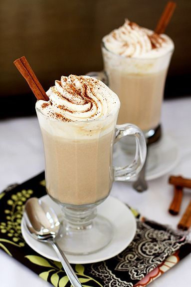 Pumpkin white hot chocolate, yes please!