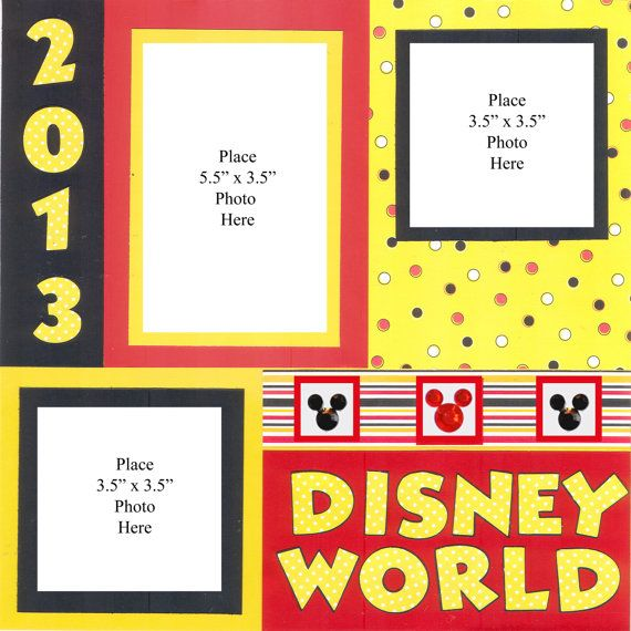 Disney Scrapbook  Disney World  Two Page Scrapbook Layout