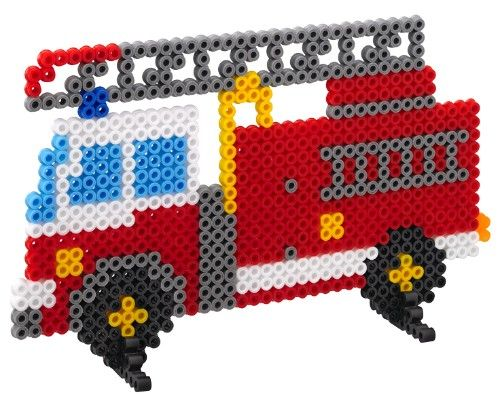 Fire engine hama beads - Hama 3418 Kit