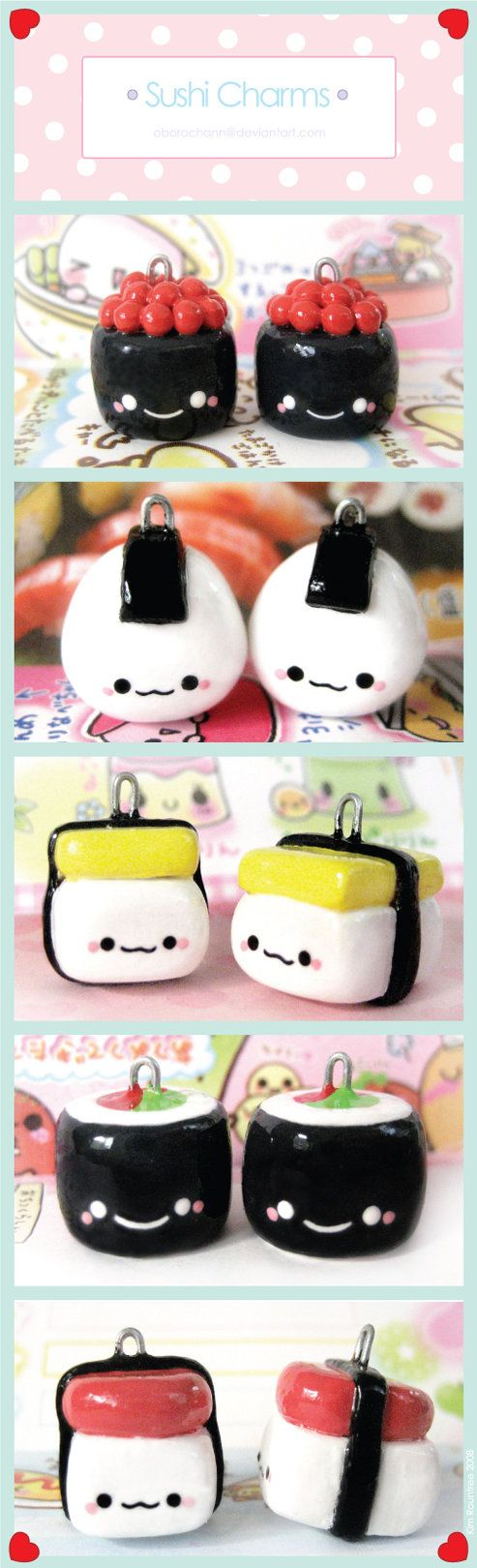 Sushi Charms by ~Oborochann on deviantART