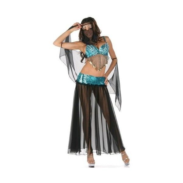Princess Jasmine Genie Arabian Belly Dancer Fancy Dress Costume ($22) ❤ liked on Polyvore featuring costumes, arabian costumes, genie costume, fancy costumes, princess jasmine costume and fancy halloween costumes