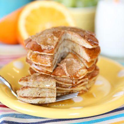 Envie de pancakes légers ? De la banane, des œufs et de la cannelle, il n'en faut pas plus pour préparer des pancakes minceur....