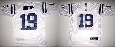 RBK BALTIMORE COLTS JOHNNY UNITAS WHITE ROAD JERSEY LARGE