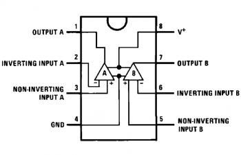 The LM358 Operational Amplifier Pinout Schematic : LM358