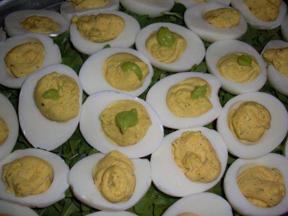 Wasabi Deviled Eggs | Appetizers | Pinterest