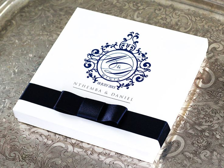 Wedding Invitations | Wedding Stationery | South Africa | Secret Diary | Nthemba & Daniel Box Invitation