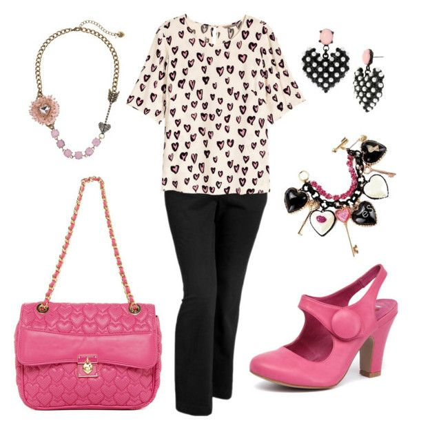 """Business in Pink"" by corinna-smith-lockamy on Polyvore featuring Old Navy, H&M and Betsey Johnson"