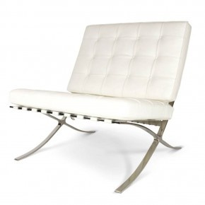 Barcelona chair. WHITE