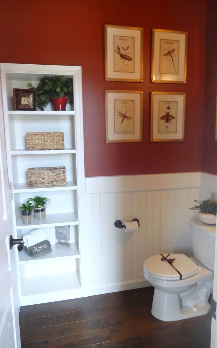 Paint Color In Powder Room Red Maple Glidden A0448 In