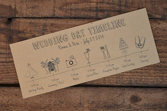 Bruiloft dag tijdlijn/schema PDF