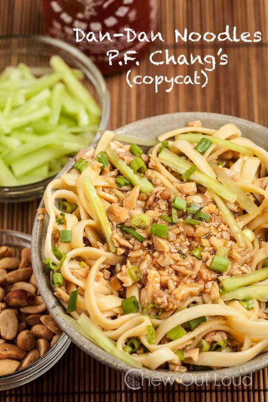 Dan-Dan Noodles (Mein) P.F. Chang's Copycat Recipe ~ These Dan-Dan ...