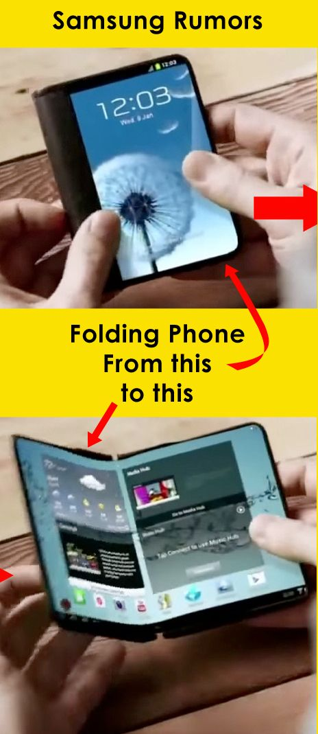 CES 2015? Rumor that Samsung will release a foldable phone #galaxy phones #smartphone news