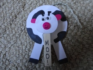 kids cow day craft