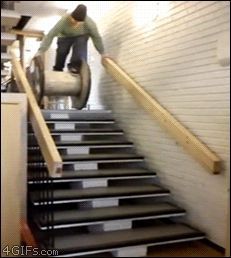 This new way of going down the stairs. | 42 Ideas That Completely Backfired