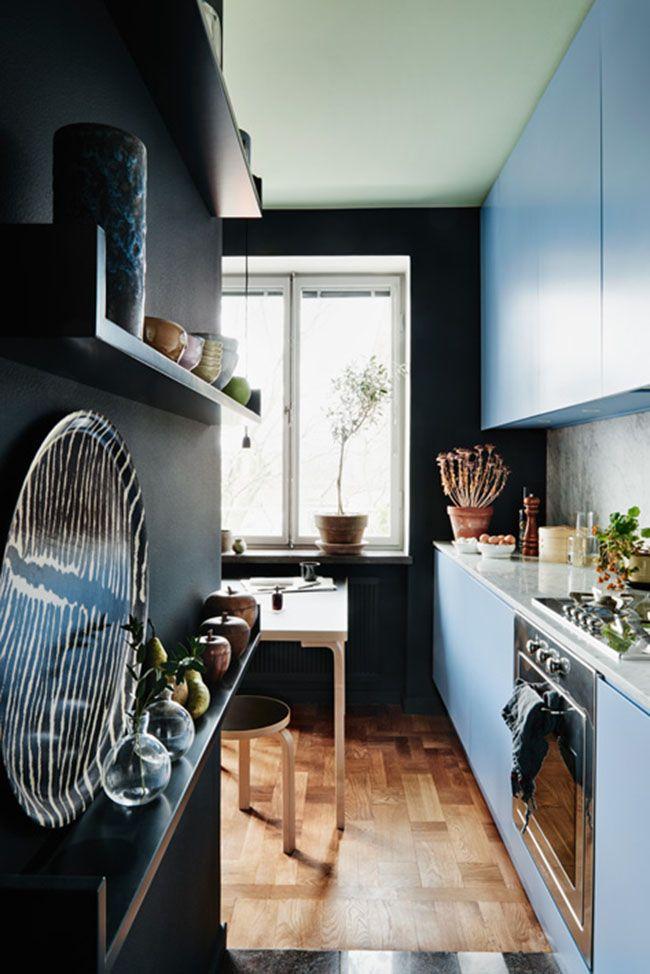 Blåt køkken