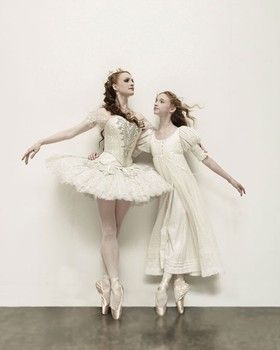 Gillian Murphy and Catherine Hurlin as the two versions of Clara in ABT's Nutcracker.
