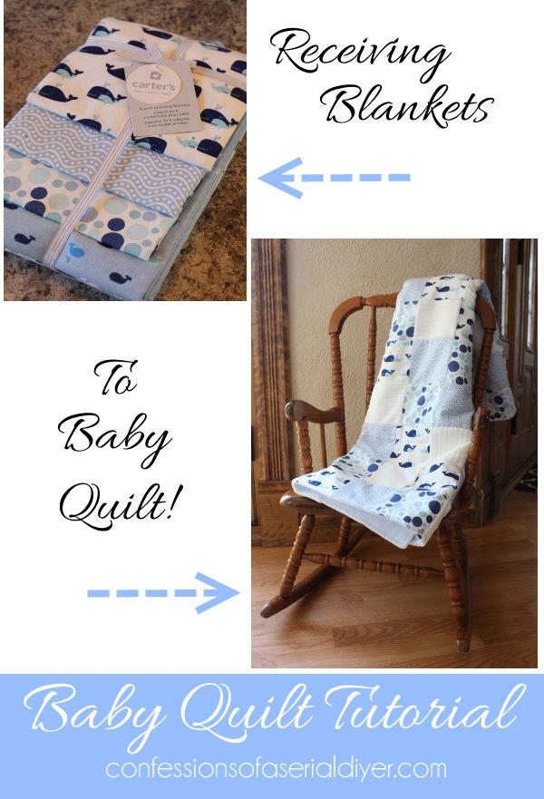 Make a Baby Quilt from Receiving Blankets