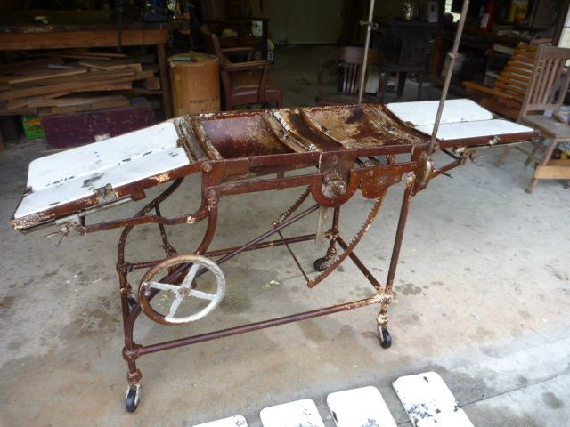 Antique operating table a cautionary tale for young for Strange table