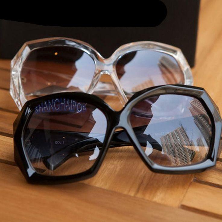 Ladies Crystal Black Frame Sunglasses Shades Oversized