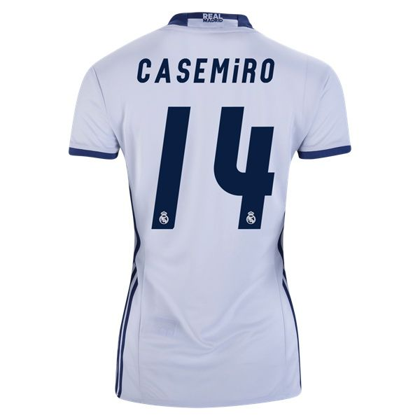 21be90c4c 2016 Casemiro Jersey Number 14 Home Women s Real Madrid Team ...