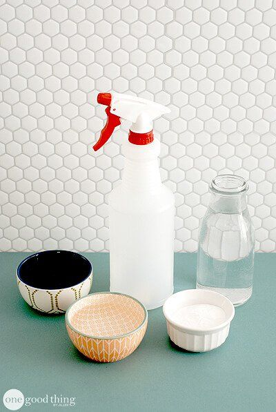 Homemade Stain Remover Spray: 2/3 c. Dawn, 2/3 c.ammonia, 6 T washing soda, 2 c. warm water.