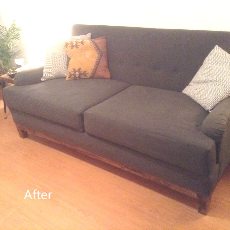Rehupolstered sofa DIY