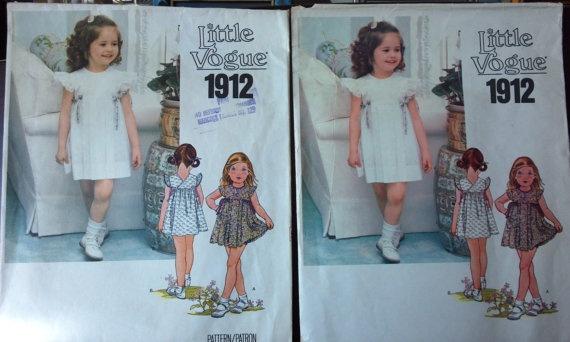 Little Vogue Pattern 1912 for Girls Dress & by VictorianWardrobe, $4.00