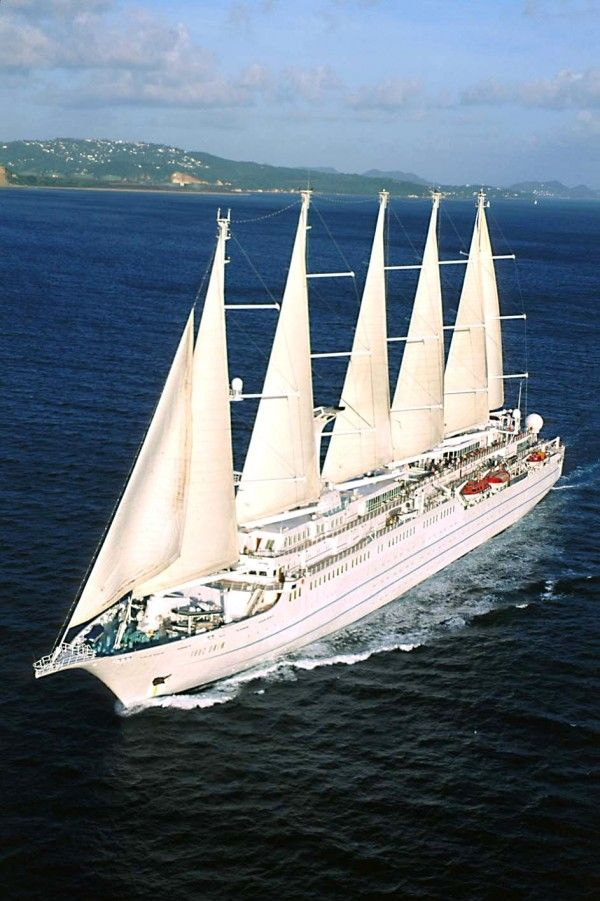 Windstar Cruises - state-of-the-art sailing vessels complete with beautiful dining rooms, libraries,