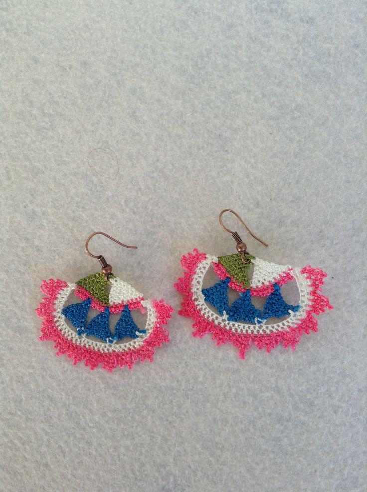 needle lace,earring