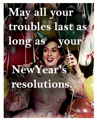 New Year's Eve toast! - vintage retro funny quote