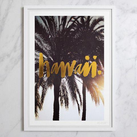 Blacklist Studio Framed Print - HAWAII