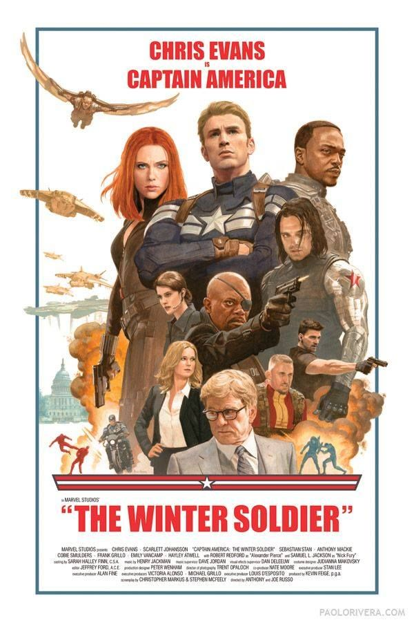 "New retro poster for ""Captain America: the Winter Soldier"""