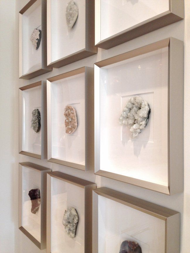 Framed Crystal Wall Art Geode Decor Decor Crystal Decor