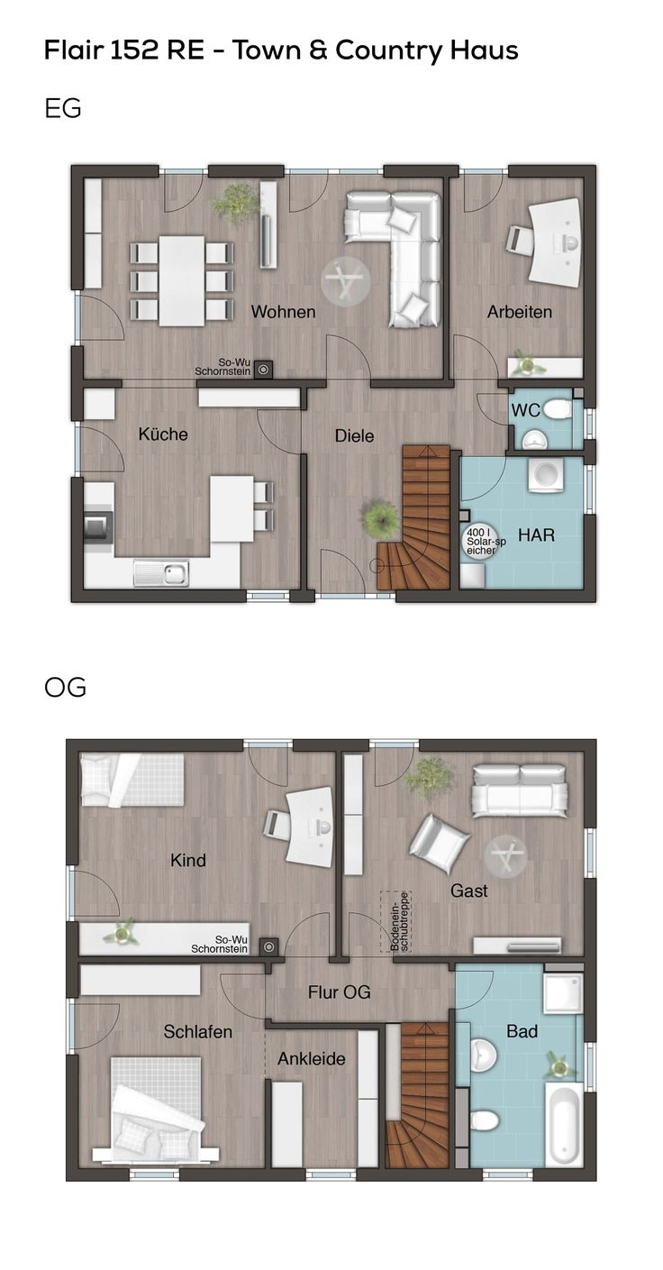 Floorplan Stadtvilla modern with hipped roof architecture – 5 rooms, 150 qm Wfl., Er …   – Kunst LK