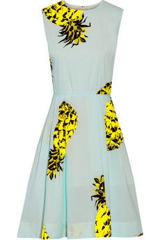 Love this pineapple print dress from MSGM | NET-A-PORTER | Perfect for resort wear - summer
