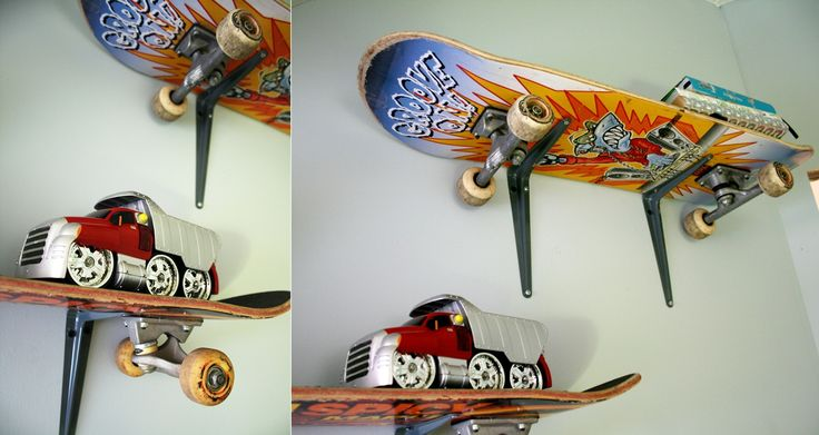 Second life of skateboards. Easy way to have amazing and unique shelves...