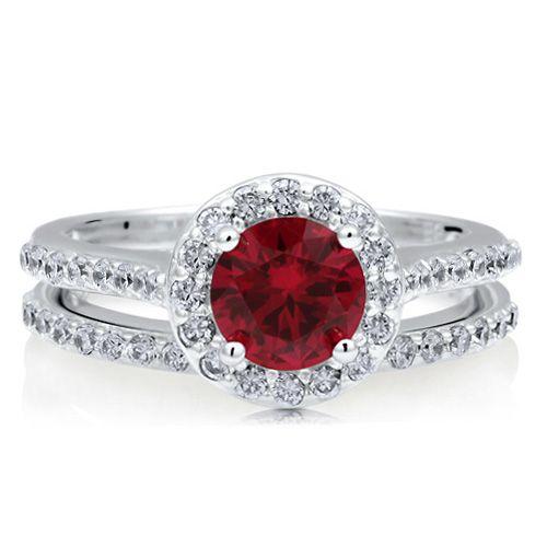 Beautiful Round Ruby Ring- my birthstone!
