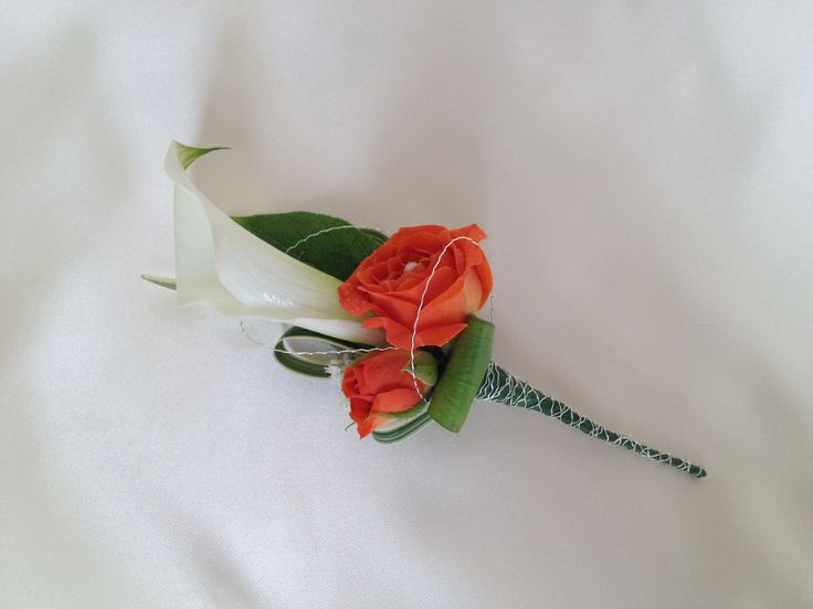 Calla lily and rose corsage with a special touch x