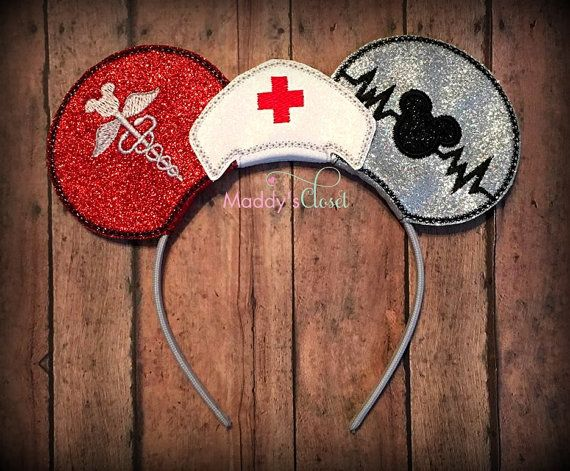 Nurse Mickey Ears, Nurse Minnie Ears, RN Ears