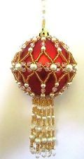 Z189 Bead PATTERN ONLY Beaded Princess Charlotte Christmas Ornament Cover Patter