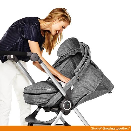 stokke scoot with newborn soft bag accessory in black melange stokke scoot stroller. Black Bedroom Furniture Sets. Home Design Ideas