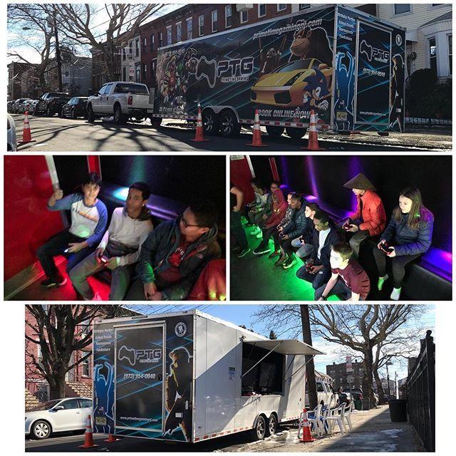 Bright and early in Jersey City  Happy Birthday Jack  PTG . . . #primetimegaming #primetimegamingnj #gametruck #gametrailer #playstationvr #playstation4 #virtualreality #PS4 #nintendoswitch #xbox #wii #wiiu #xboxone #7tvs #party #familyfun #birthdayparty #funtimes #gamers #games #gamerlife #gaminglife #videogames #gametruckfun #mobilevideogames #mobilegametruck #videogamebus #mobilegamebus #jerseycitynj