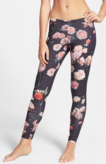 adidas Trefoil Rose Leggings available at #Nordstrom Love these tights for go to from gym/street