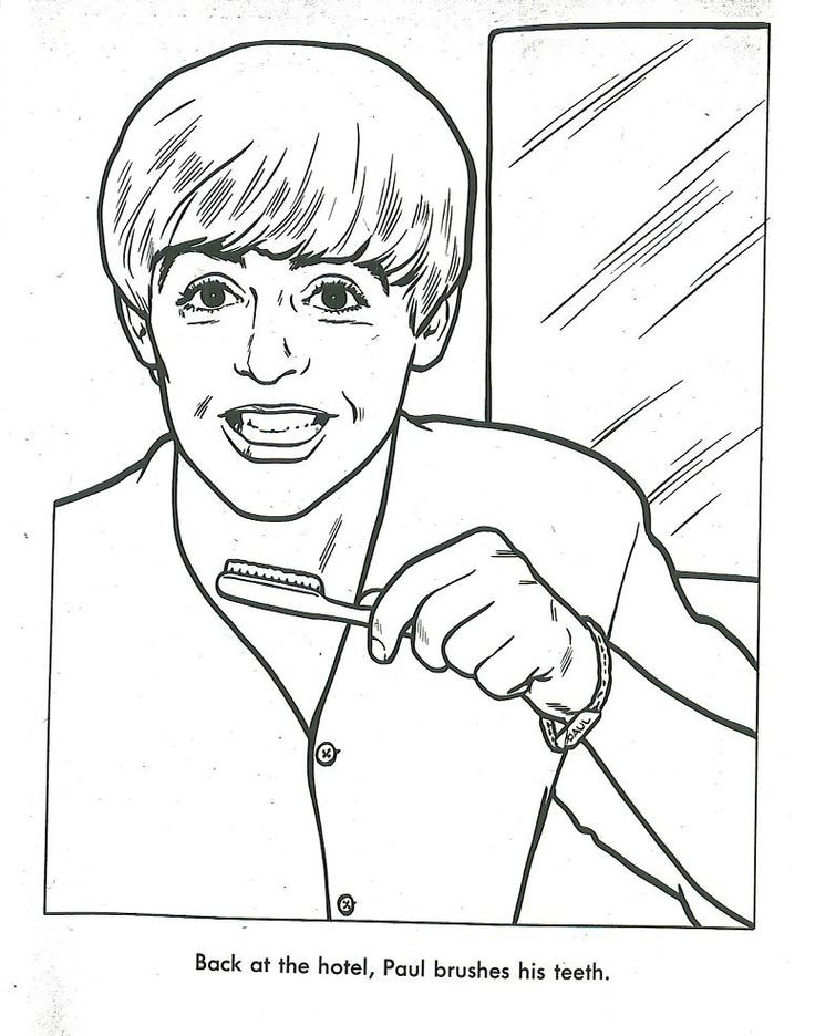 beatles coloring book page - Beatles Coloring Book