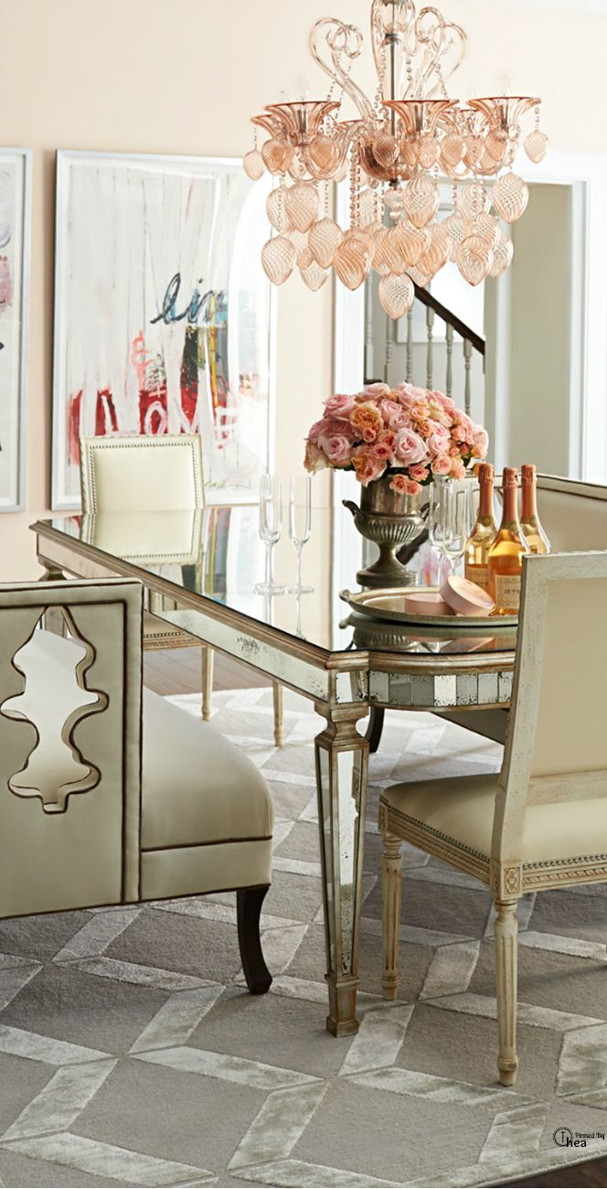 Baker dining chairs archives simplified bee - Dining Room Luxurious Silvery Pink Dining Experience Yes Please