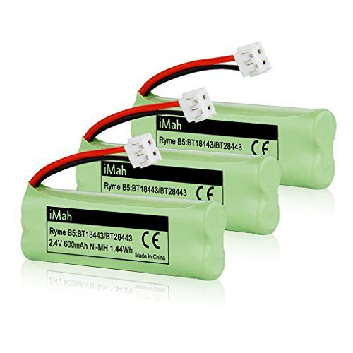 3-Pack iMah Ryme B5 Rechargeable Cordless Phone Battery for BT-18443 BT-28443 89-1337-00-00 VTech LS-6115 LS-6117 LS-6125 LS6126 LS6225 Wireless Home Handset Telephone Top Office Shop